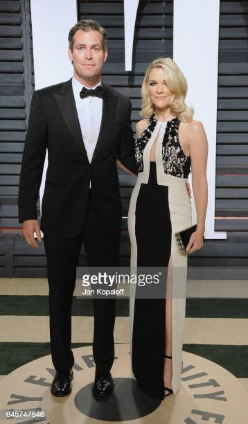 Novelist Douglas Brunt and journalist Megyn Kelly attend the 2017 Vanity Fair Oscar Party hosted by Graydon Carter at Wallis Annenberg Center for the...