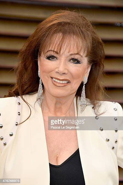 Novelist Jackie Collins attends the 2014 Vanity Fair Oscar Party hosted by Graydon Carter on March 2 2014 in West Hollywood California