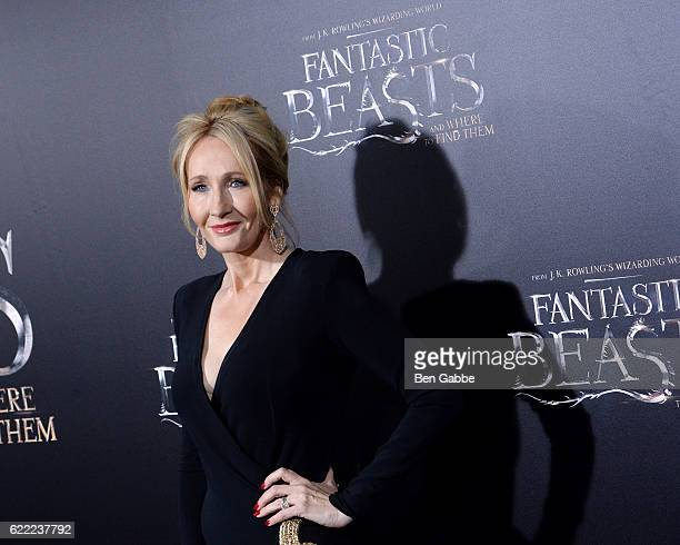 Novelist JK Rowling attends the 'Fantastic Beasts And Where To Find Them' World Premiere at Alice Tully Hall Lincoln Center on November 10 2016 in...