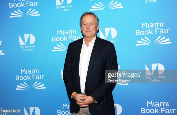Novelist John Grisham attends the Miami Book Fair 2018 for the discussion 'Three Masters of Their Form' at Miami Dade College on November 17 2018 in...