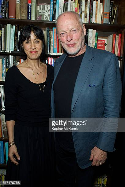 Novelist Polly Samson and musician David Gilmour attend the signing for her new book The Kindness at The Last Bookstore on March 23 2016 in Los...