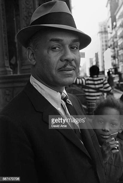 Novelist Ralph Ellison poses for a portrait in Harlem in New York City New York