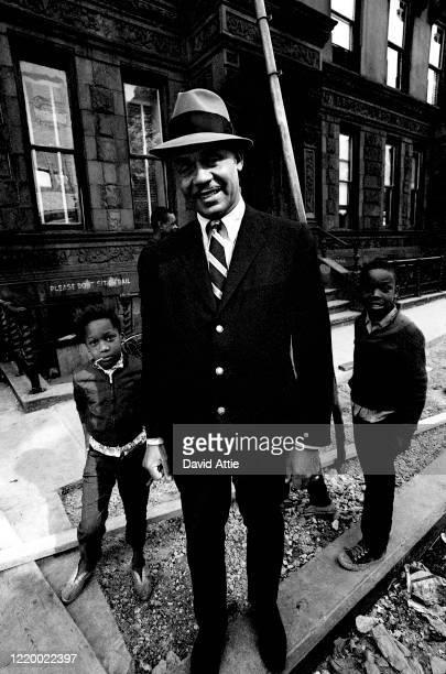 Novelist Ralph Ellison poses for a portrait in October in Harlem in New York City New York