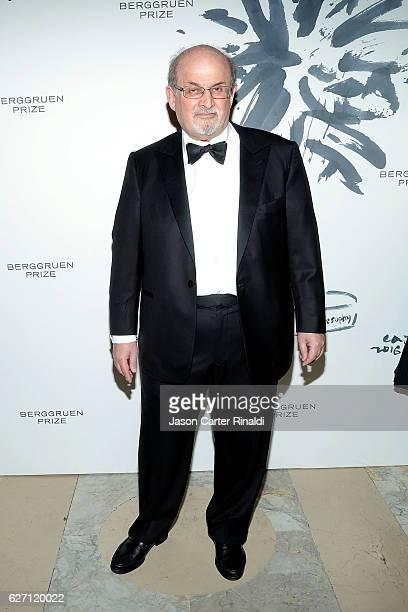 Novelist Salman Rushdie attends The Berggruen Prize Gala Honoring Philosopher Charles Taylor at New York Public Library Astor Hall on December 1 2016...