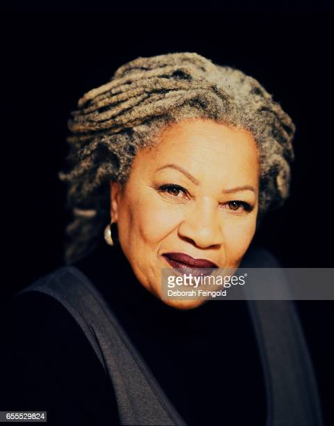 Novelist Toni Morrison poses in her apartment in December 1997 in New York City New York r