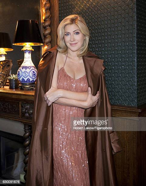 Novelist/screenwriter Amanda Sthers is photographed for Madame Figaro on July 6 2016 in Paris France Trench and dress PUBLISHED IMAGE CREDIT MUST...