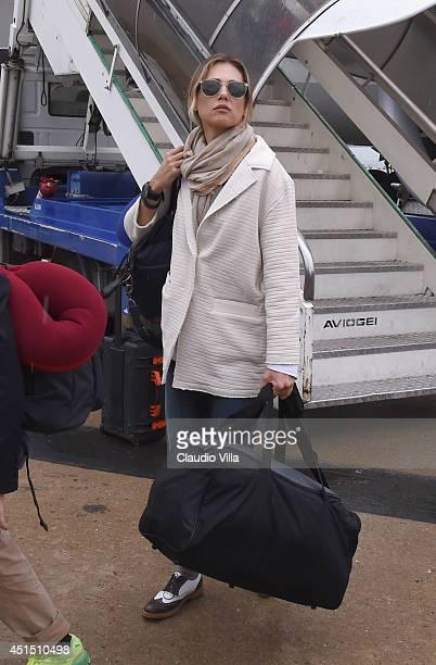 Novella Benini arrives at Malpensa Airport on June 26 2014 in Milan Italy