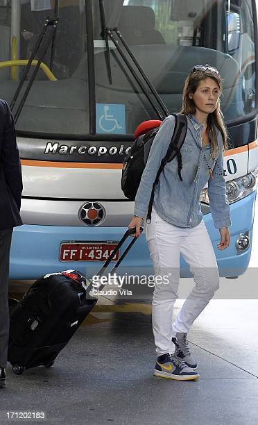 Novella Benini depart from the hotel to the airport of Salvador de Bahia on June 23 2013 in Salvador Brazil
