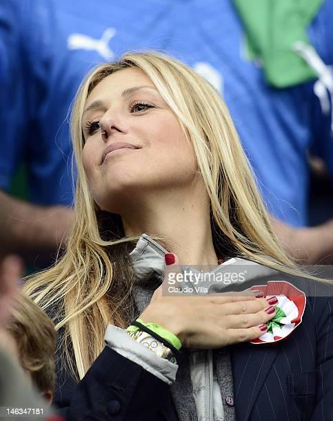 Novella Benini fiance of Italy head coach Cesare Prandelli during the UEFA EURO 2012 group C match between Italy and Croatia at The Municipal Stadium...