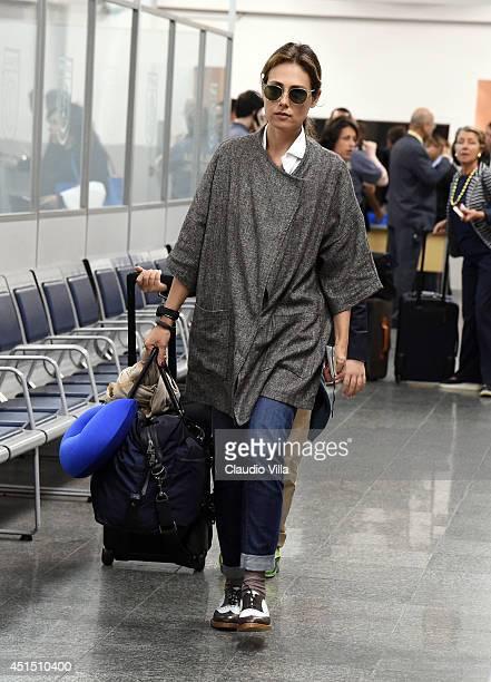 Novella Benini leaves Brazil on June 25 2014 in Rio de Janeiro Brazil