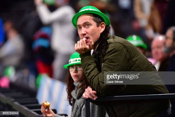 Novelty hats handed out to celebrate St Patrick's Day during the Top 14 match between Racing 92 and Stade Francais at U Arena on March 17 2018 in...