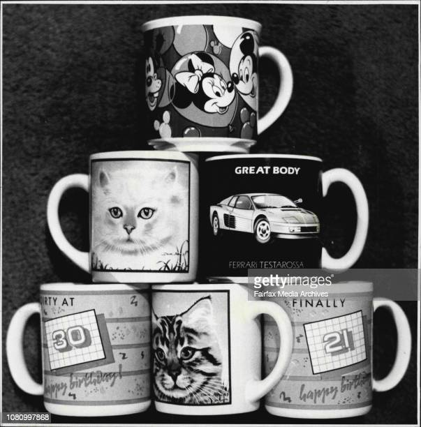 Novelty mugs including gallery cats new birthday car mugs and Disney at Reflections Gift Boutique CBA centre George St November 10 1987
