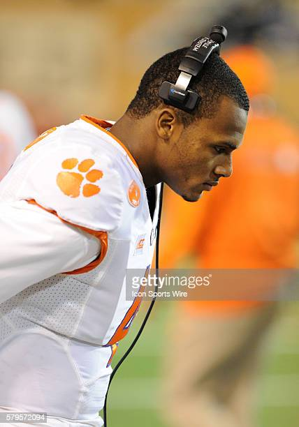 Clemson Tigers quarterback Deshaun Watson on the sideline against the Wake Forest Demon Deacons at BBT Field in WinstonSalemNC Clemson and Wake...