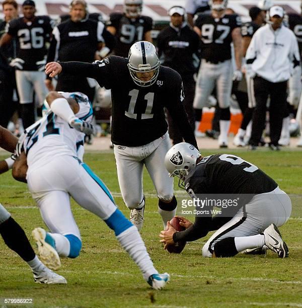 With Oakland Raiders punter Shane Lechler holding PK Sebastian Janikowski kicks his way into the record books by breaking George Blanda's scoring...