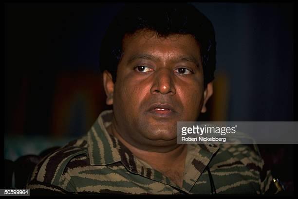 LTTE Liberation Tigers of Tamil Eelam rebel leader Velupillai Prabhakaran during TIME interview