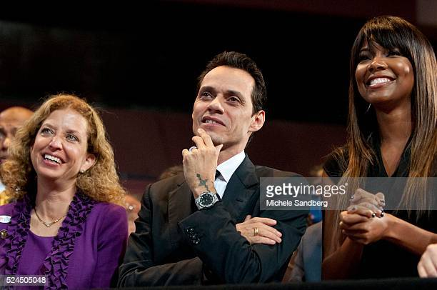 November 1 2012 DEBBIE WASSERMAN SCHULTZ MARC ANTHONY GABRIELLE UNION First Lady Michelle Obama Speaks To Grassroots Supporters In Miami