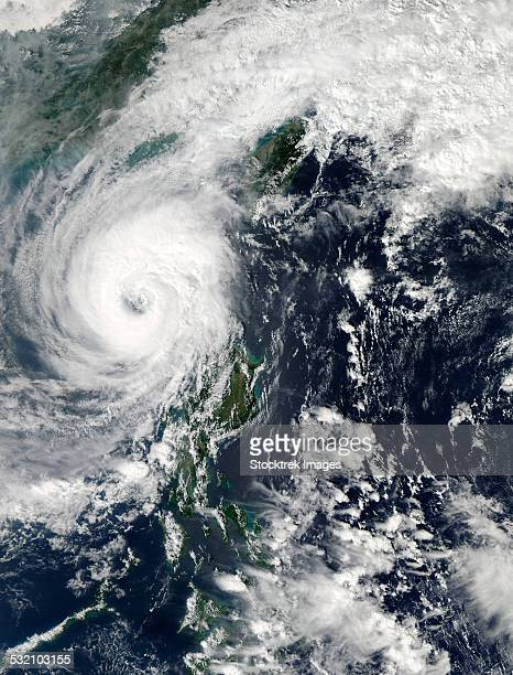 November 1, 2013 - Typhoon Krosa over the Phillippines.