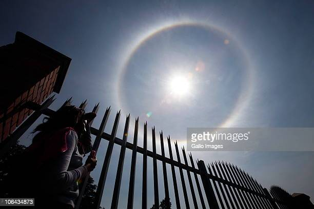 November 1 : South Africans were surprised to see a rainbow wrapped around the sun, almost like a halo, at around 10am on 1 November, 2010 in the sky...