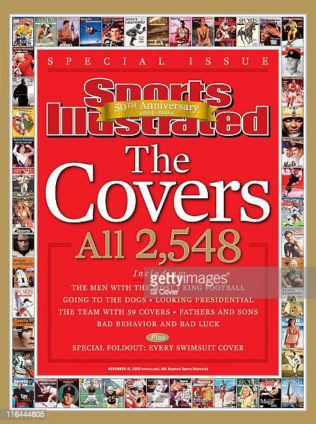 November 10 2003 Sports Illustrated via Getty Images Cover 50 Years of Covers Illustration of text THE COVERS ALL 2548 by Art Department New York NY...