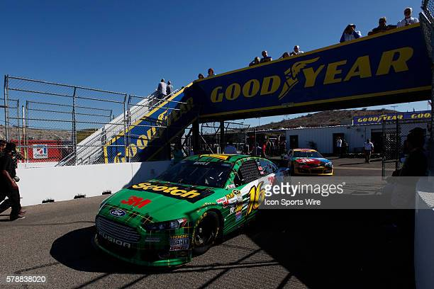 Greg Biffle's Scotch Ford before the 26th Annual AdvoCare 500 at Phoenix International Raceway in Avondale, AZ.