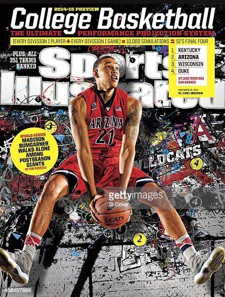 November 10 2014 Sports Illustrated Cover NCAA Season Preview Portrait of University of Arizona power forward Brandon Ashley during photo shoot at...