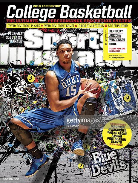 November 10 2014 Sports Illustrated via Getty Images Cover NCAA Season Preview Portrait of Duke University center Jahlil Okafor during photo shoot at...