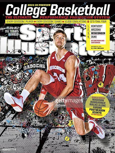 November 10 2014 Sports Illustrated via Getty Images Cover NCAA Season Preview Portrait of University of Wisconsin power forward Frank Kaminsky...