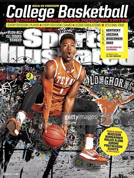 November 10 2014 Sports Illustrated via Getty Images Cover NCAA Season Preview Portrait of University of Texas point guard Isaiah Taylor during photo...