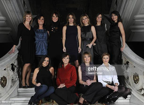 November 11 2008 Casa de America Madrid Spain The spanish newsreaders of television Pilar Galan Helena Resano Mamen Mendizabal Carme Chaparro Angeles...