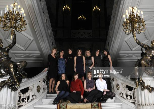November 11 2008 Casa de America Madrid Spain The spanish newsreaders of television Pilar Galan Helena Resano Mamen Mendizabal Carme Chaparro Angeles...