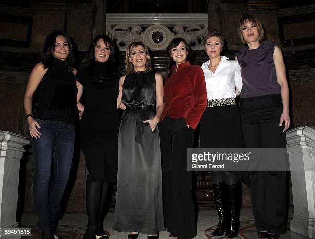 November 11 2008 Casa de America Madrid Spain The spanish newsreaders of television Monica Carrillo Mamen Mendizabal Angeles Blanco Cristina...