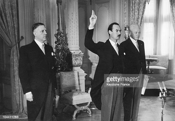 November 12 1964 JEAN son of the Great Duchess of Luxembourg CHARLOTTE who has just abdicated takes the oath upon ascending to the throne thus...