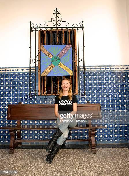 November 12, 2007. Tanger, Morocco. Spanish Festival Cinema in Tanger. In the image, the spanish actress, Maria Esteve, posess.