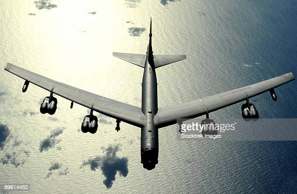 november 12, 2008 - a b-52 stratofortress in flight over the pacific ocean.                                                          - explosive stock pictures, royalty-free photos & images