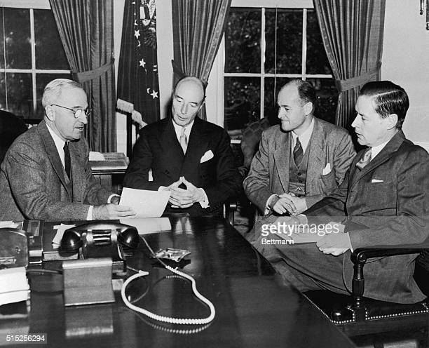 November 13 1947Washington DC President Truman today received a progress report on preparations for the forthcoming meeting of the Council of Foreign...