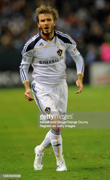 David Beckham plays in the MLS Western Conference Final agains FC Dallas at the Home Depot Center in Carson California Dallas won 30 to advance to...