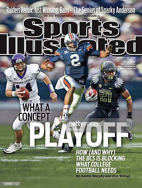November 15 2010 Sports Illustrated Cover College Football BCS Playoff Concept Texas Christian University QB Andy Dalton vs Utah at RiceEccles...