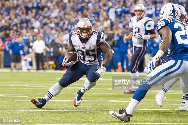 New England Patriots running back Jonas Gray cuts back during a football game between the Indianapolis Colts and New England Patriots at Lucas Oil...