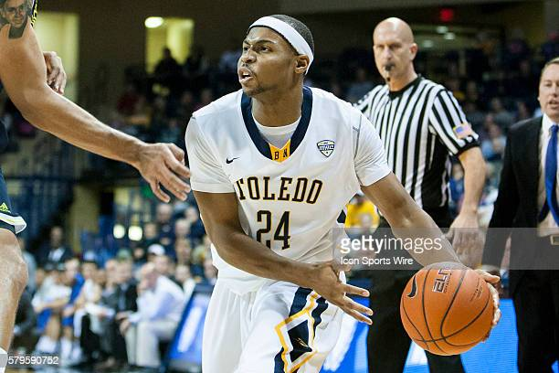Toledo Rockets forward JD Weatherspoon looks to pass the ball during a nonconference regular season game between the Northern Arizona Lumberjacks and...