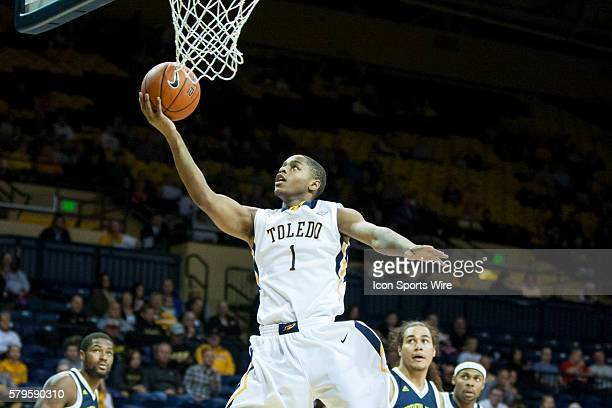 Toledo Rockets guard Jonathan Williams goes in for a layup during a nonconference regular season game between the Northern Arizona Lumberjacks and...