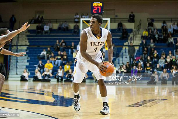 Toledo Rockets guard Justin Drummond looks to pass the ball during a nonconference regular season game between the Northern Arizona Lumberjacks and...