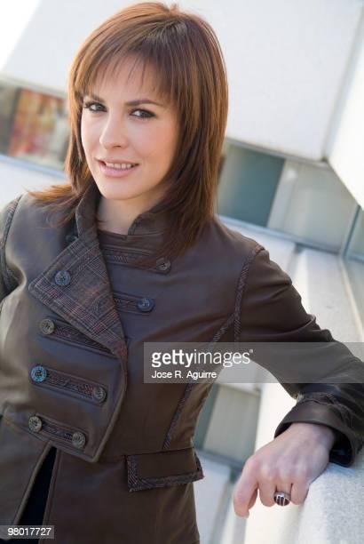 November 17 2006 Madrid Portrait of Mamen Mendizabal tv hostess