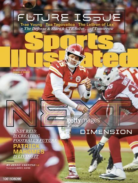 November 19 2018 November 26 2018 Sports Illustrated Cover Kansas City Chiefs QB Patrick Mahomes in action making pass vs Arizona Cardinals at...