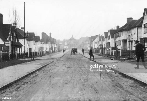 A street in Letchworth Garden City Hertfordshire