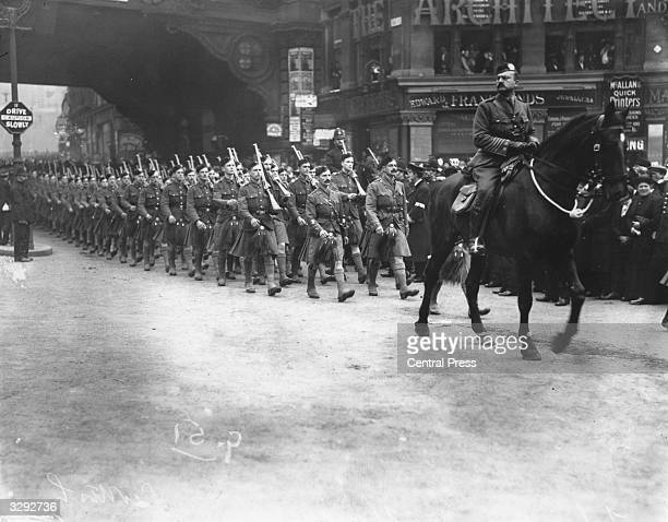 The London Scottish Regiment during the Lord Mayor's Show in London The London Scottish Regiment was formed by Lord Elcho 10th Earl of Wemyss in 1859...