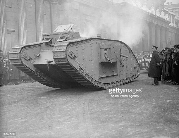 A 'male' MKIV tank at the Lord Mayor's show in London