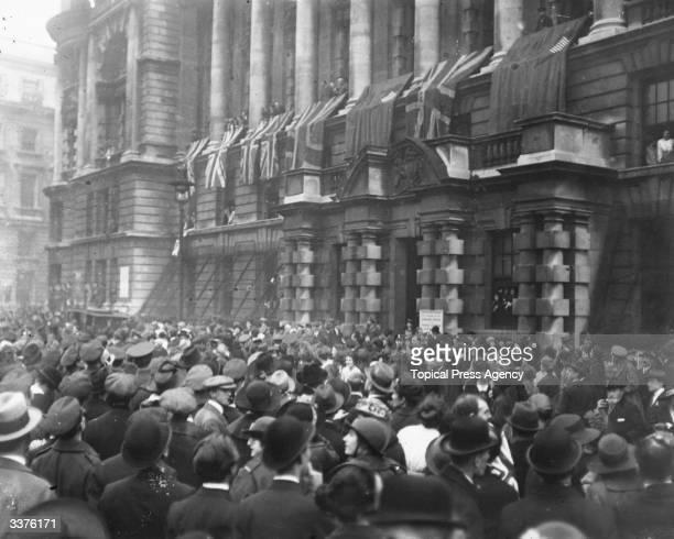 An Armistice scene in London.