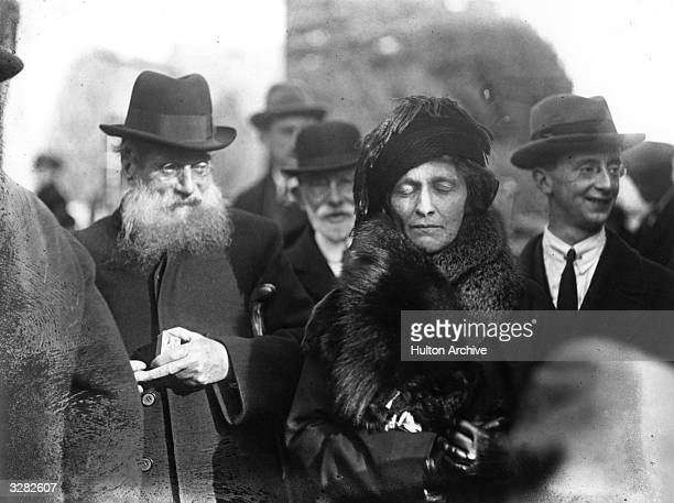 American-born British politician Nancy Witcher Langhorne, Viscountess Astor , during the Plymouth election where she was the Conservative candidate....