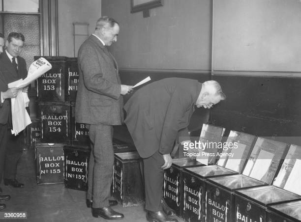 Ballot Boxes at Camberwell for the election of November 1922