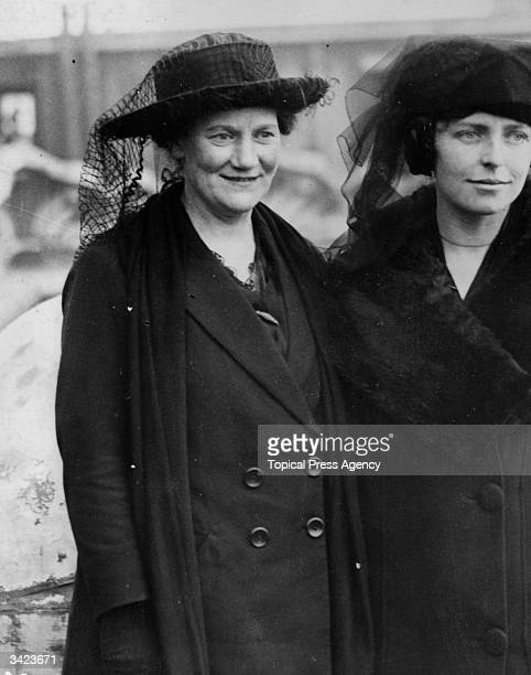 Terence MacSwiney's sister Mary MacSwiney at Mountjoy Prison in Dublin during the hunger strike. Her brother Terence died at Brixton Prison in London...